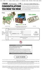 Gewinnmitteilungswebsite