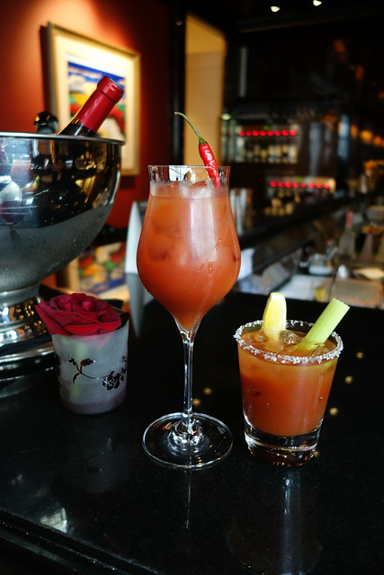 St. Regis Singapore's Chilli Padi Bloody Mary & Classic Bloody Mary at Astor Bar