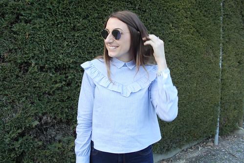 outfit pre primavera maglia con volant