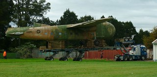 2011 NZ5911 being relocated at Ardmore - almost flying again