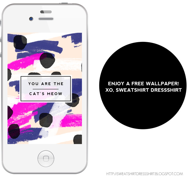 you are the cat's meow, photoshop paint stroke brushes, free iphone wallpaper