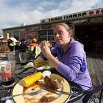 Emily at the Iron Horse Bar, Gardiner, Montana