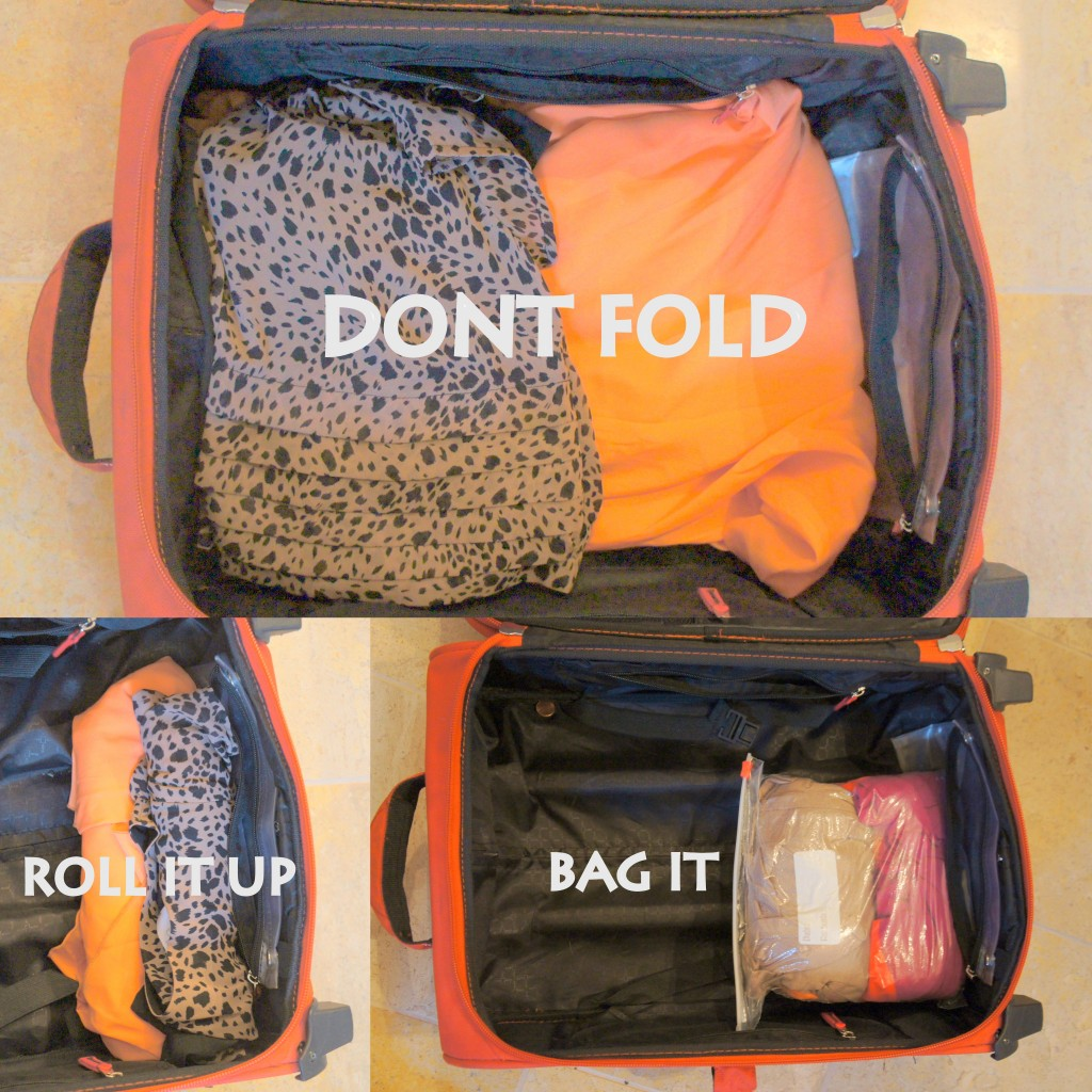 Travel Hacks: Roll over your clothes to Save Space