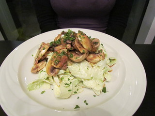 Zucchini Fettuccine Mushroom Carbonara at Greens & Vines