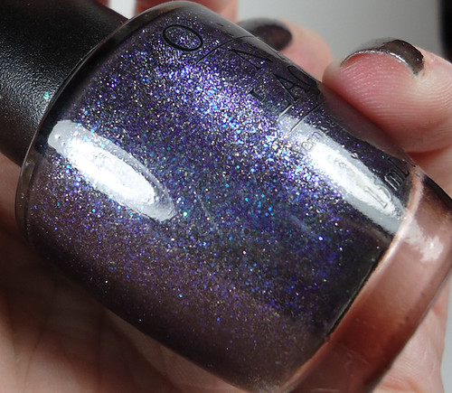 OPI Midnight Blue Glitter