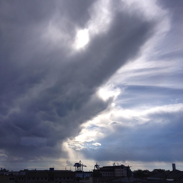 dramatic skies, helsingborg