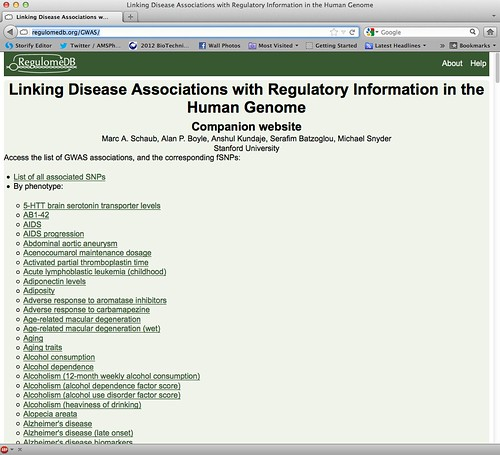 Linking Disease Associations with Regulatory Information in the Human Genome
