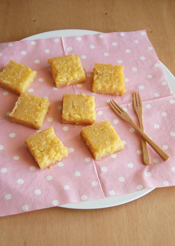 Lemon marmalade bars / Barrinhas de geleia de limão siciliano