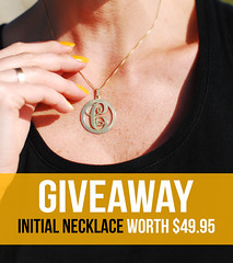 oNecklace initial necklace giveaway
