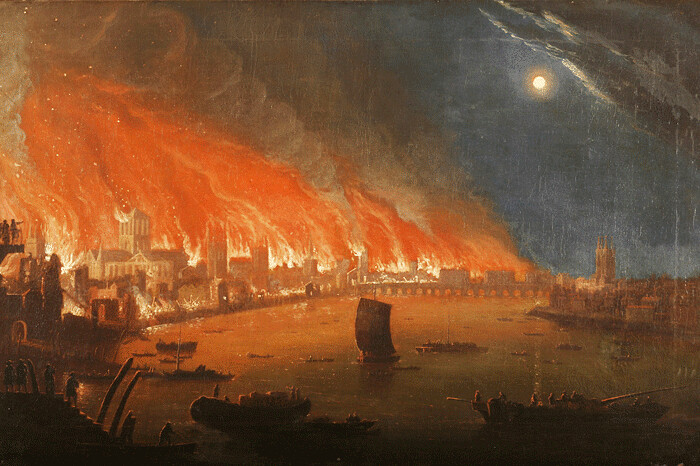 What was the main reason The Great Fire of London got out of control?*10 Points*?