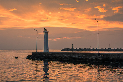 sunset sea home taiwan 夕陽 台灣 海 家 日落 kaohsing 高雄市 蚵仔寮 故鄉 蚵子寮 蚵寮 梓官區