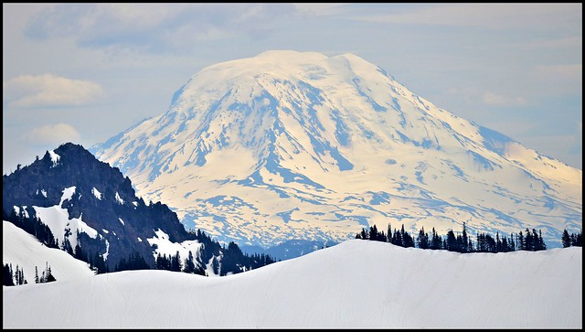 Mount Adams from Mount Rainier