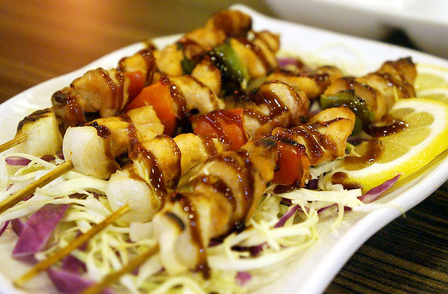 Genji M Chicken Yakitori (P120 for 3 sticks)