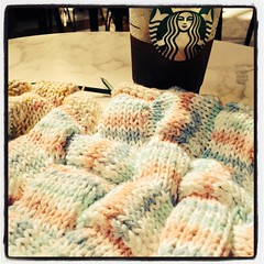 Day 31 - Entrelac + A Giant Americano = Happy