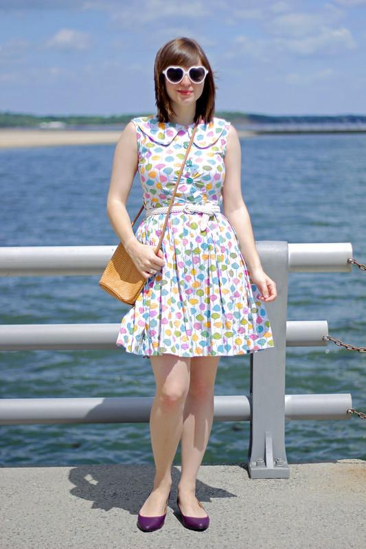 vintage seashell dress, seashell dress, seashell print, shell print, vintage dress, 60s dress, nautical print, vintage shell dress