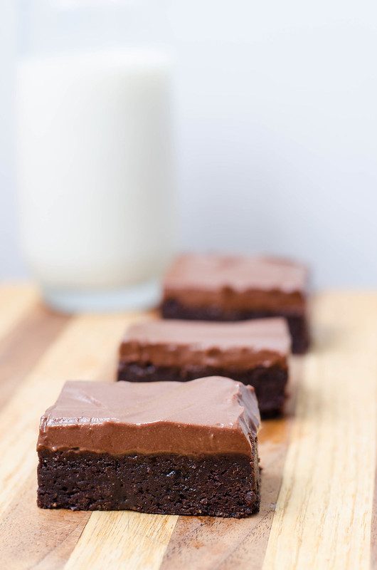 Chocolate Yogurt Mousse Brownies