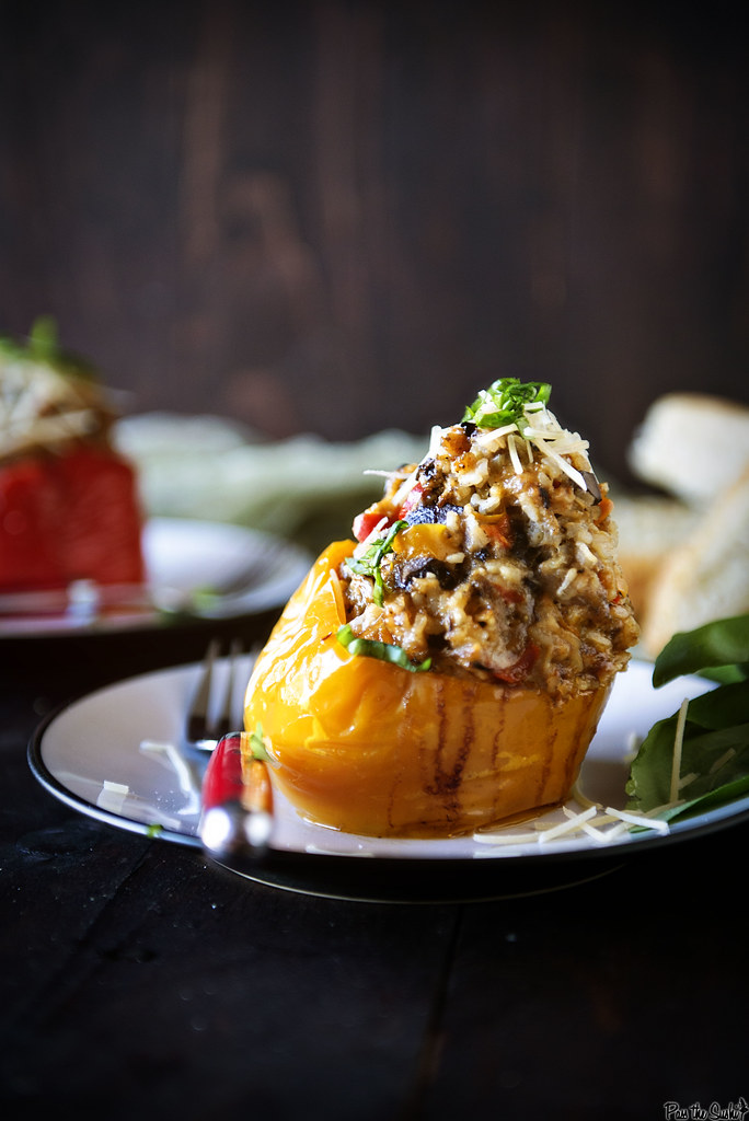 Slow Cooker Italian Stuffed Peppers || GirlCarnivore.com