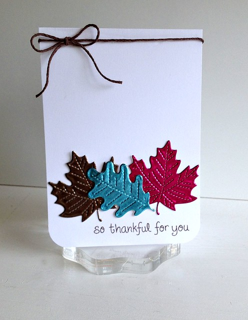 so thankful-stitched leaves