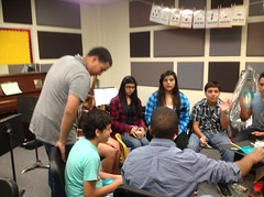 Mariachi creates music with items found around the classroom. Talk about freestylin'!