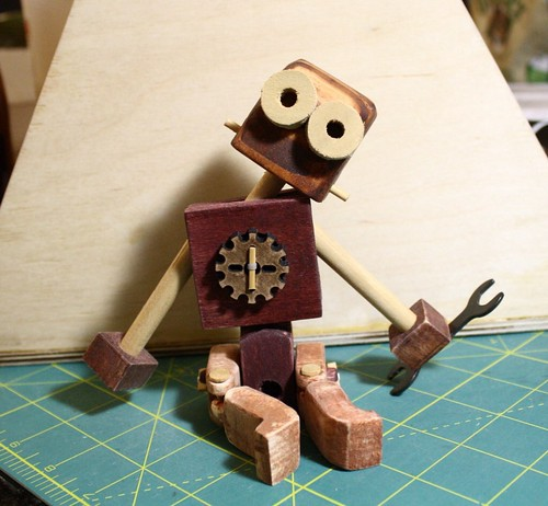 My wooden rag doll bot