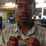 Tyler's handmade bow tie