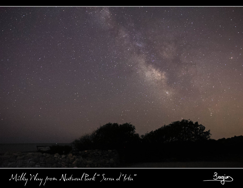 "Milky Way from Natural Park ""Serra d ´Irta"""