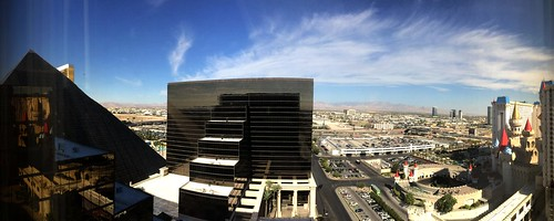 Luxor Tower room panorama, view looking west