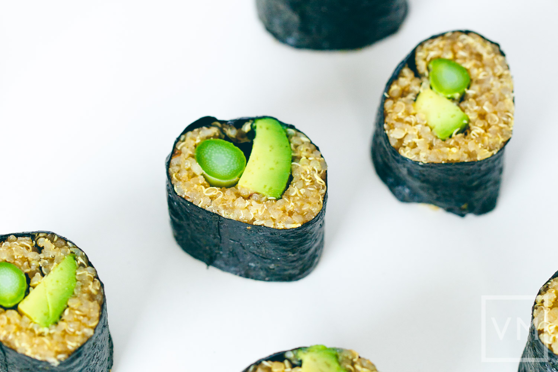 Choosing Raw Asparagus Sushi Rolls