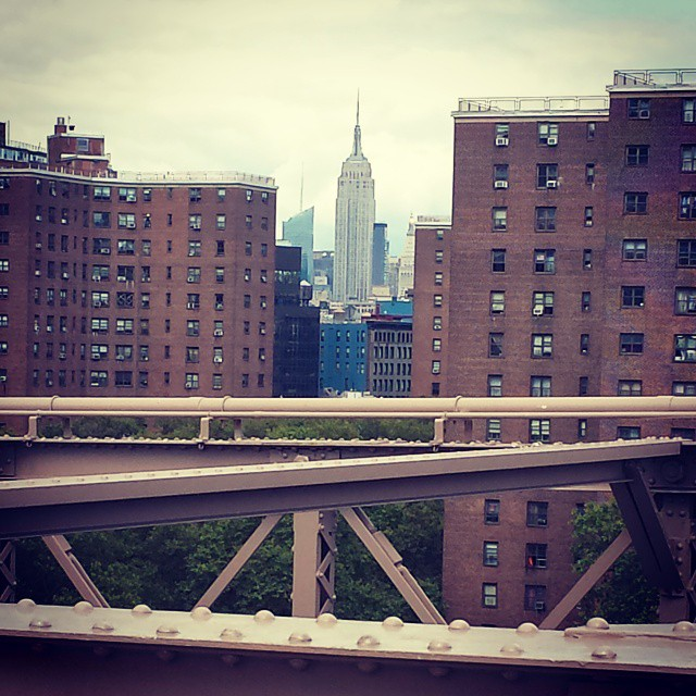 Empire State Bldg from the #Brooklyn Bridge