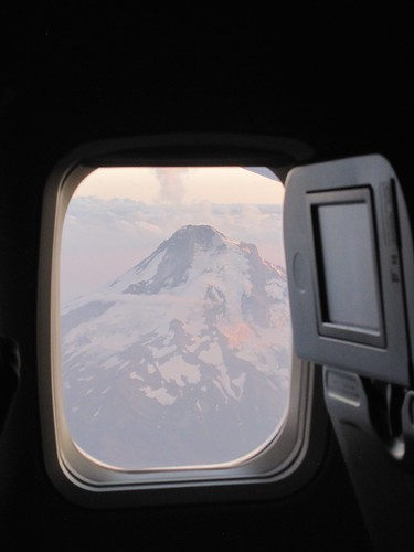 Mount Hood through the window