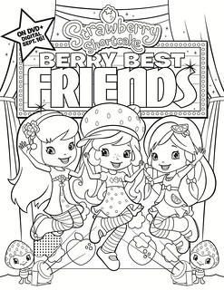 Strawberry Shortcake: Berry Best Friends Coloring Sheet