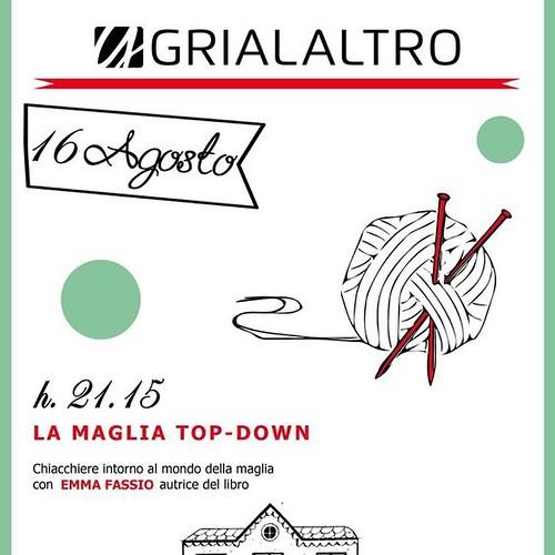 Next book presentation :) La prossima presentazione del libro:) #lamagliatopdown @grialaltro #knittingwithemmafassio
