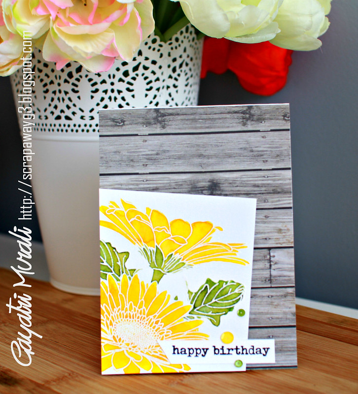 Happy Birthday Gebera vertical