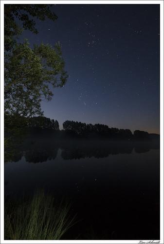 reflection nature stars landscape deutschland dawn thüringen sommer natur dämmerung landschaft spiegelung sterne stausee birkungen leinefeldeworbis tamron1024mmf3545spdiiildaslif