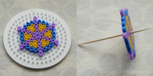 diy pinterest test spinning tops from hama perler beads