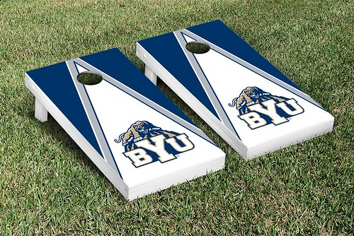 Brigham Young University BYU Cougars Cornhole Game Set Triangle Version