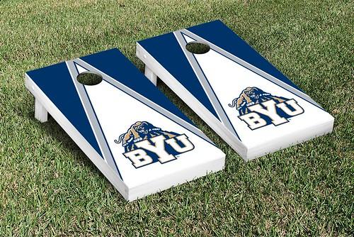 Brigham Young University BYU Cougars Cornhole Game Set Triangle Version