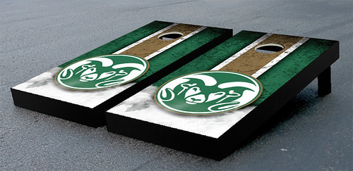 Colorado State University Rams Cornhole Game Set Vintage Version
