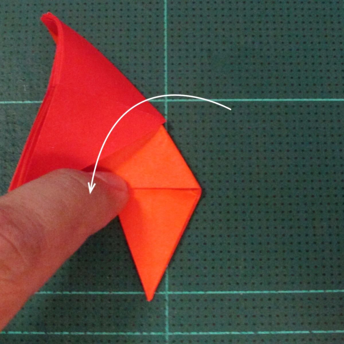 วิธีพับกระดาษเป็นช่อดอกไม้ติดอกเสื้อ (Origami Wedding Chest Flower) 014