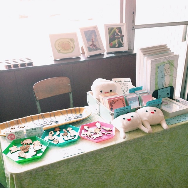My little table at the Yart sale. Open til 8!