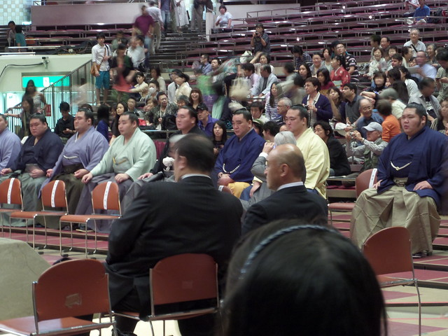 Wrestlers at the Sumo Opening Ceremony