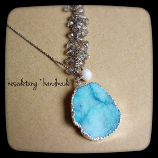 Agate Sliced Druzy Necklace