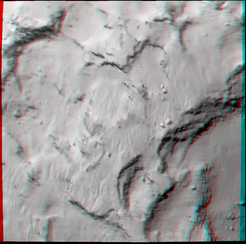 Philae's primary landing site in 3D