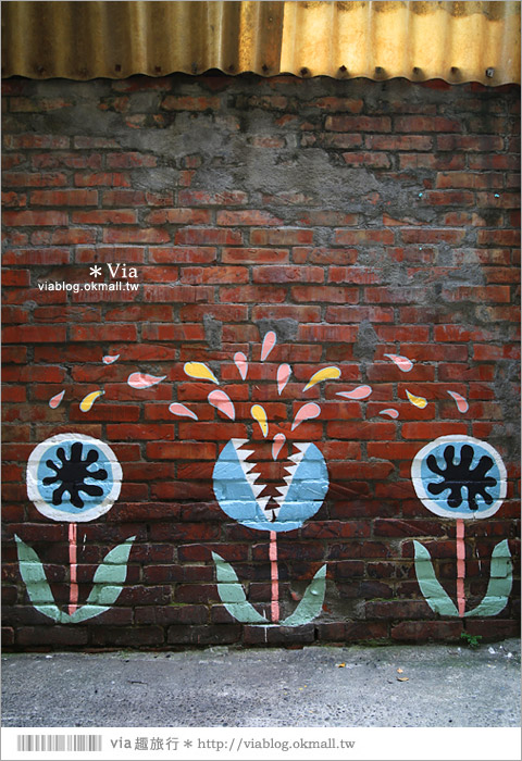 【台中彩繪村】台中怪獸街!忠明13鄰塗鴨社區~金典綠園道旁的老社區、新魅力!12