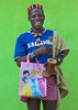 Hamer Tribe Man With A Chelsea Football Shirt and a Walt Disney bag, Key Afer, Omo Valley, Ethiopia