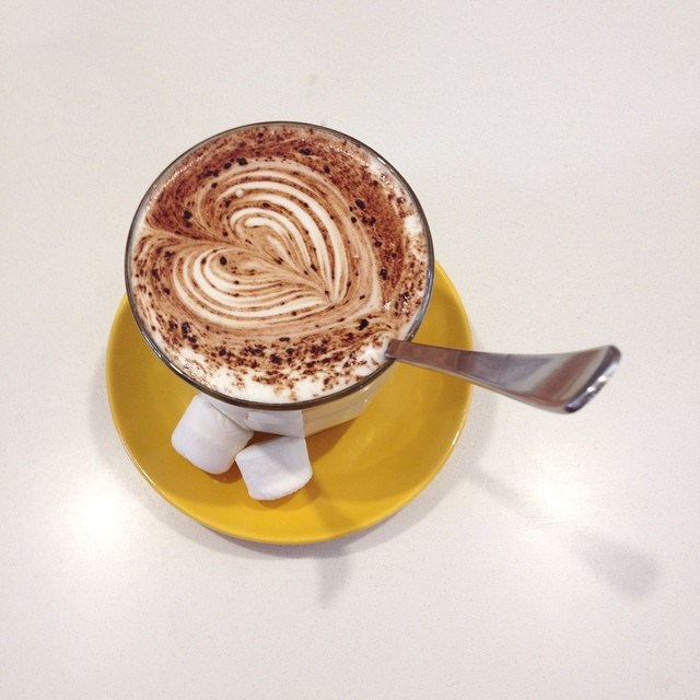 Nutella hot chocolate at Inside (hope we can have one next week @hollyleonardson)