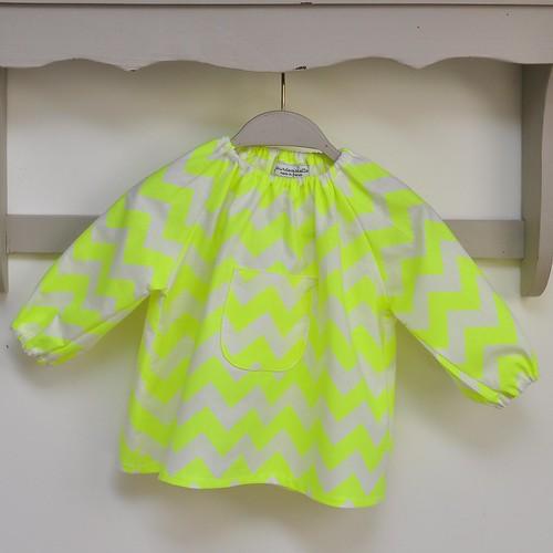 blouse zig zag fluo