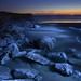 North Jetty with light painting, Ocean Shores, Washington by Don Briggs