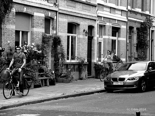 Genuine Cyclists B&W Streetphotography