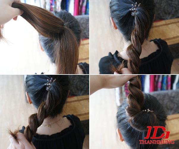Cách búi tóc đẹp đơn giản! Kiểu búi tóc cao, phồng, xì tin 4